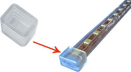 заглушка для ленты 220В