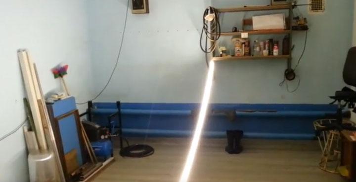 лента smd 5050 на 120 диодов в гараже