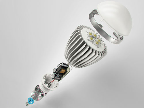 светодиодная лампа в разборе что внутри