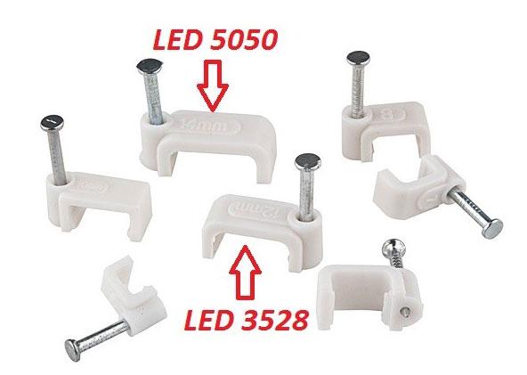 скобы под крепеж для светодиодных лент