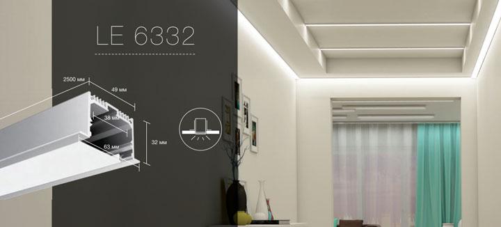 профиль для светодиодной ленты размеры