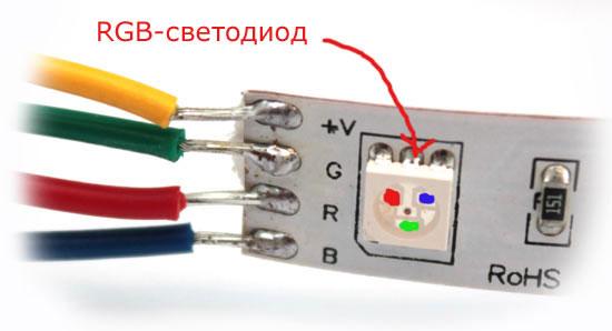 пайка проводов к светодиодной ленте rgb