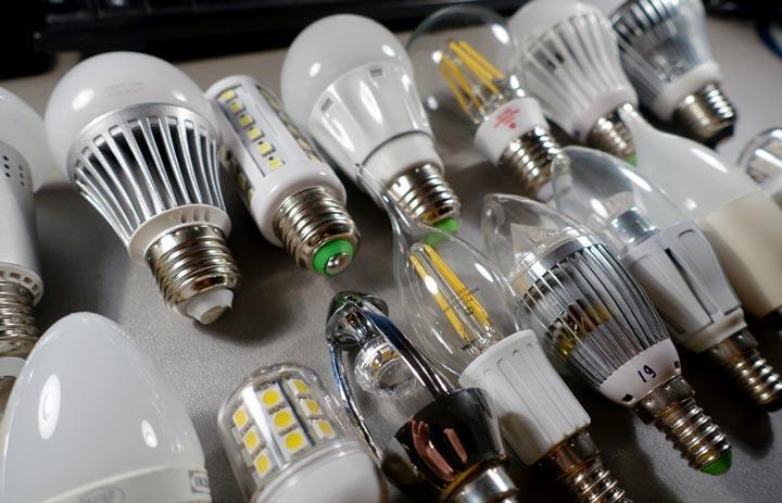 разные виды светодиодных лампочек