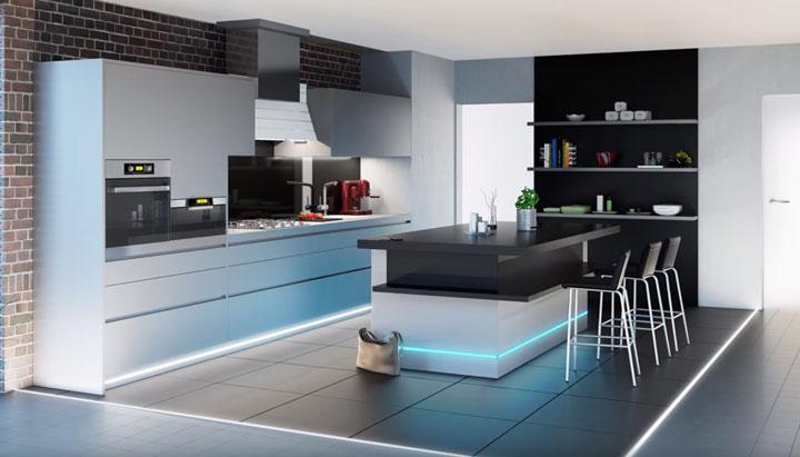подсветка кухни при помощи ленты смд 3528