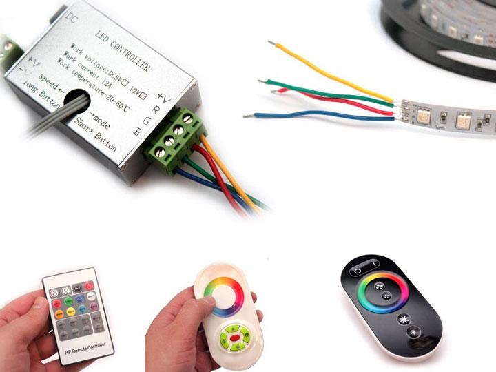 пульты управления и контроллер для rgb светодиодной ленты