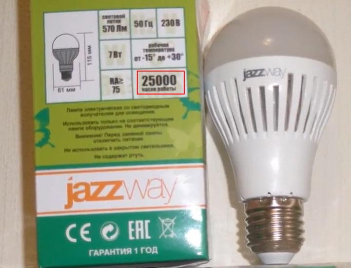 оптимальный срок службы светодиодной лампы