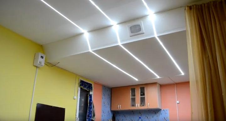 автономное освещение в гараже и дачном доме светодиодной лентой SMD 3528