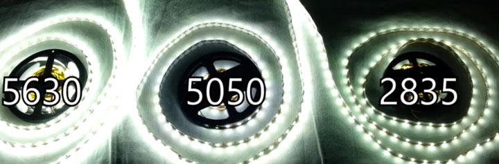 сравнение дешевых вариантов ленты SMD 2835