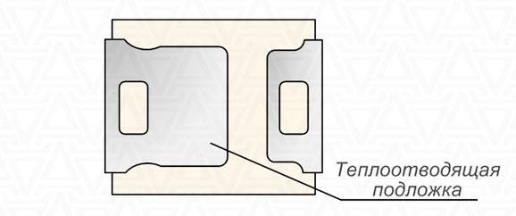 увеличенная площадь контактных площадок на диоде SMD 2835