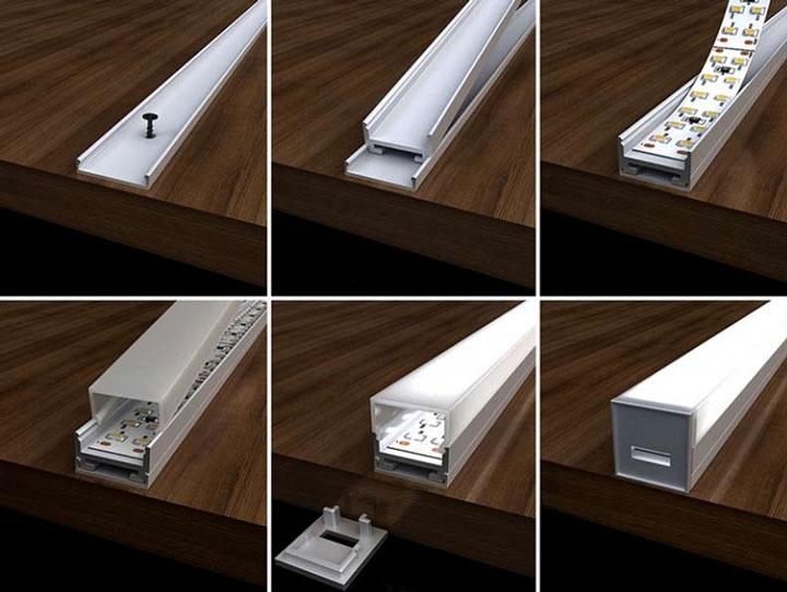 применение алюминиевого профиля для лент