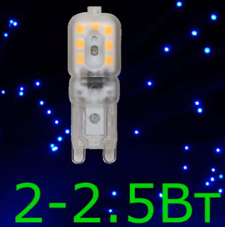 капсульная лампа с цоколем G9 оптимальная мощность