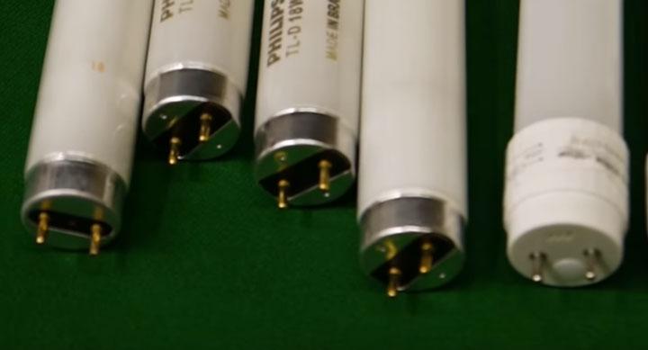 одинаковые цоколи G13 на люминесцентных и светодиодных лампах Т-8
