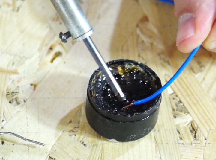 лужение провода для подключения светодиодной ленты
