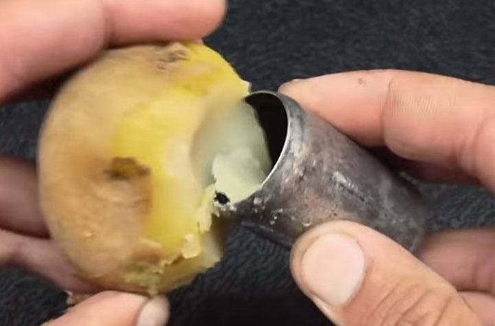 как сделать практичную батарейку из варенной картошки