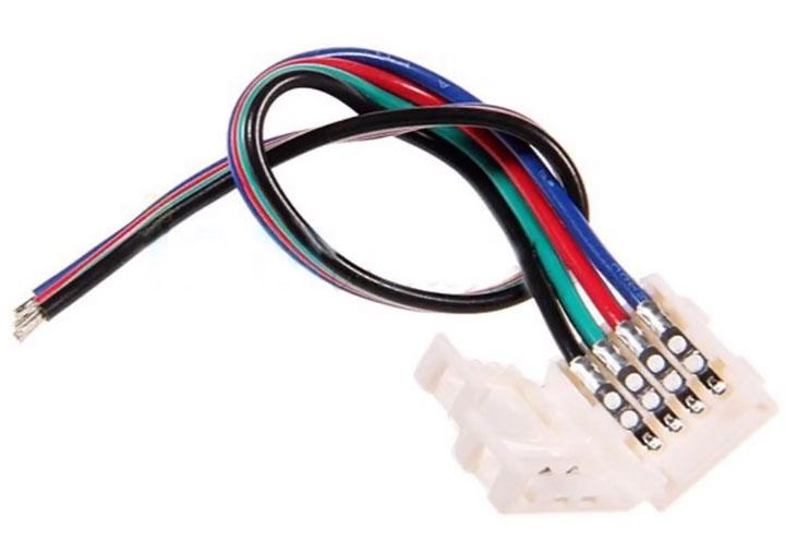 соединительные провода с коннектором для светодиодной ленты