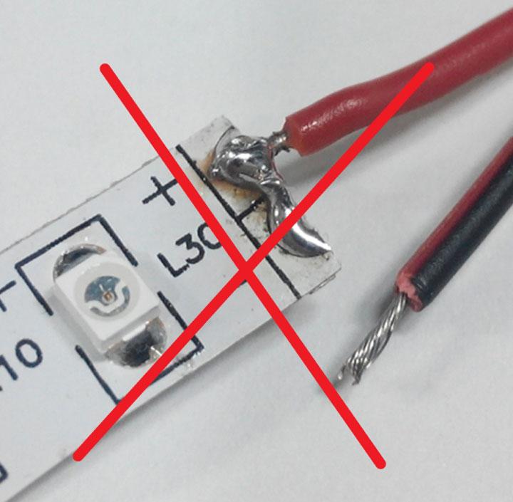 замыкание контактных площадок при пайке светодиодных лент чем грозит