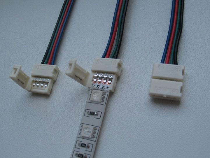 подключение led ленты через коннекторы