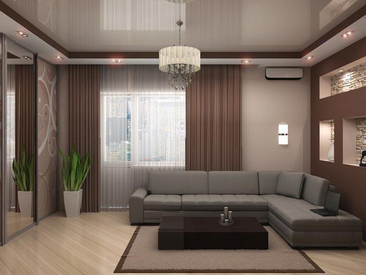 освещение зала в квартире