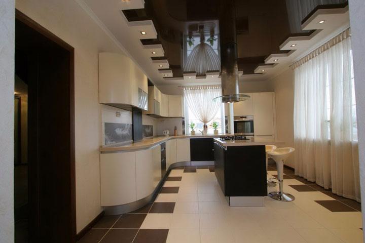 как разместить светильники на кухне
