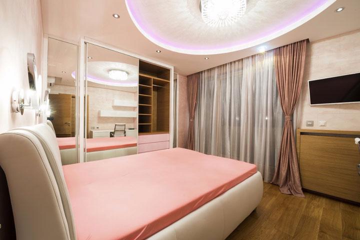 как осветить спальню размещение светильников
