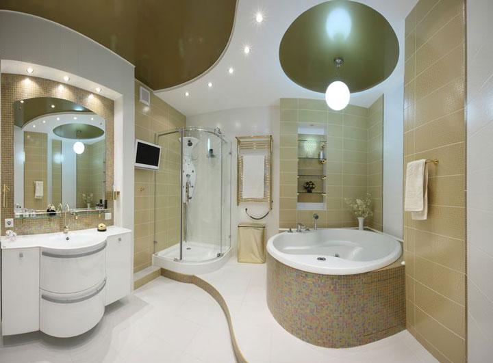 варианты размещения светильников в ванной комнате