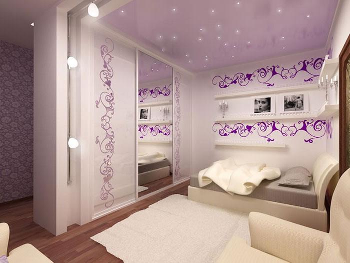 размещение и расположение светильников в спальне