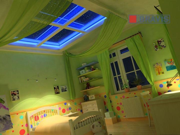 освещение на потолке в детской комнате
