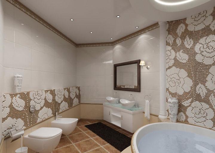как разместить светильники в ванной