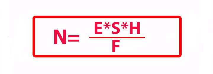 формула расчета количества светильников в помещении