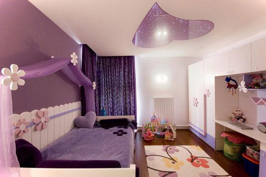 расположение светоточек на потолке в детской комнате