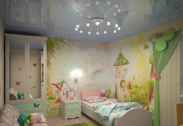 как разместить светильники в детской комнате