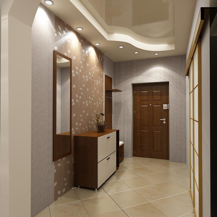 коридор и расположение светильников