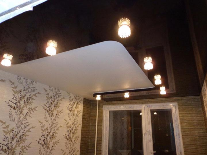 потолочное освещение в спальне