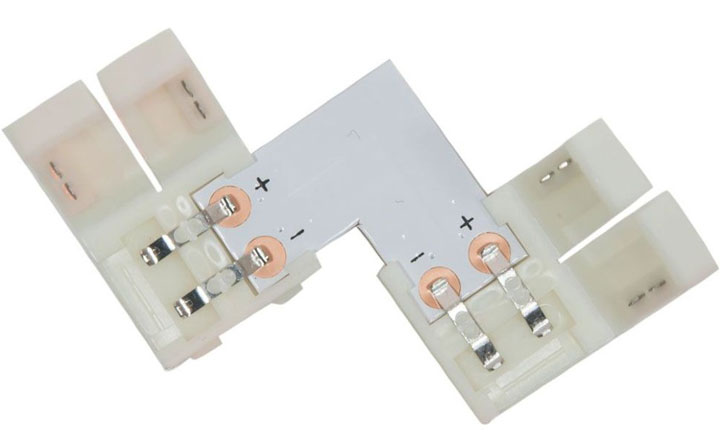 угловой коннектор для соединения ленты по углом в 90 градусов