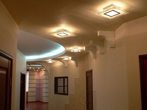как по коридору установить светильники