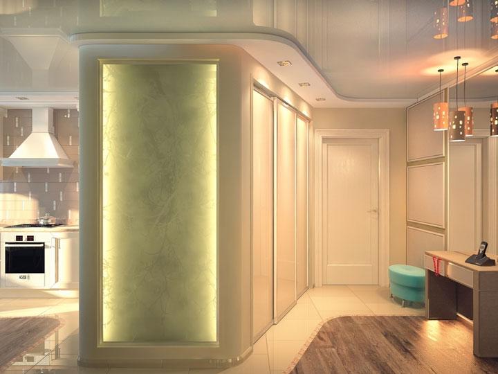 много вариантов размещения светильников в коридоре