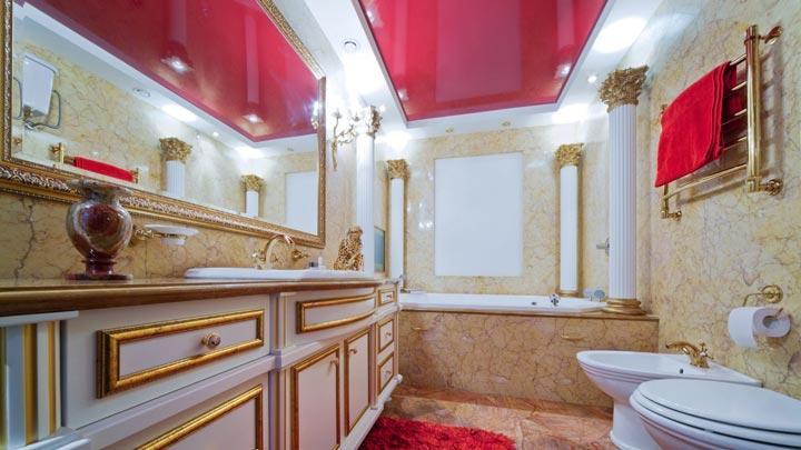 расположение светильников в ванной комнате