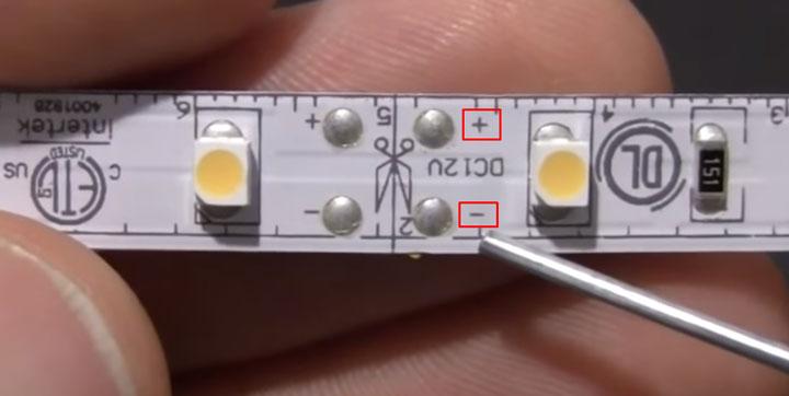 светодиодная лента с залуженным контактами