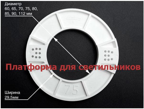 закладка под светильник определенного диаметра