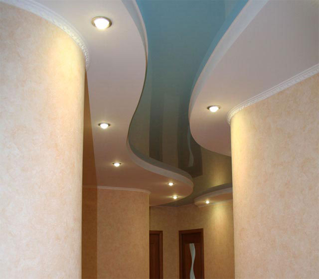 рисунок размещения светильников в коридоре