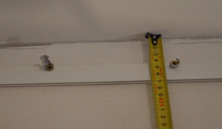 замер расстояния от базового потолка