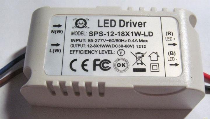 led драйвер для точечного светильника