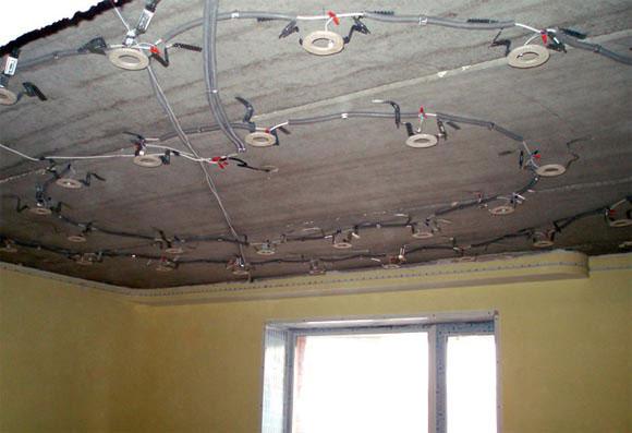 закладные под потолком