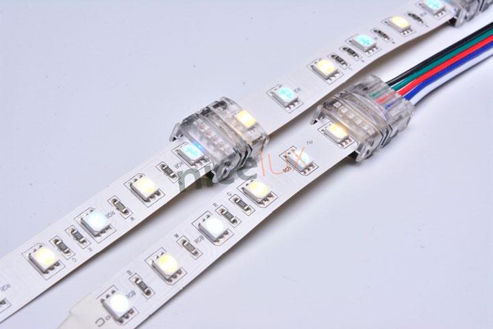 соединение светодиодных лент прокалывающими коннекторами
