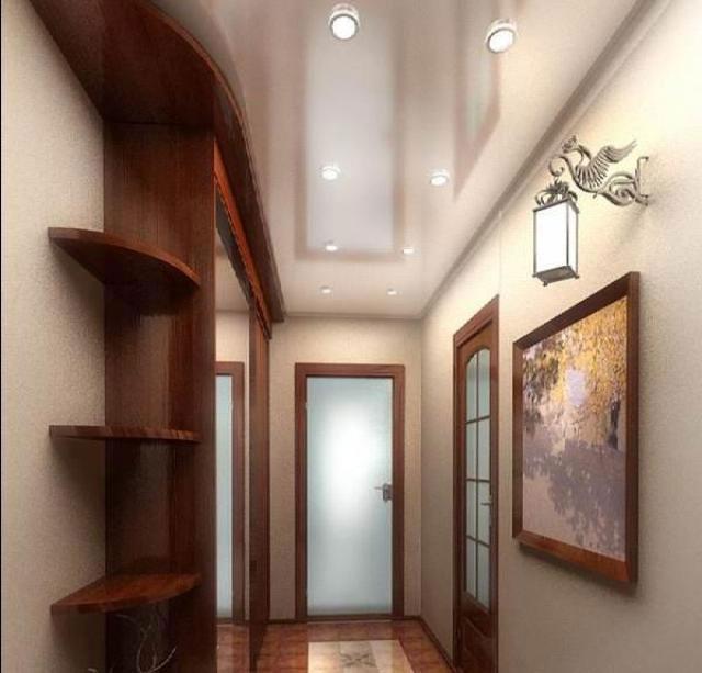 расположение светильников в коридоре квартиры рисунок