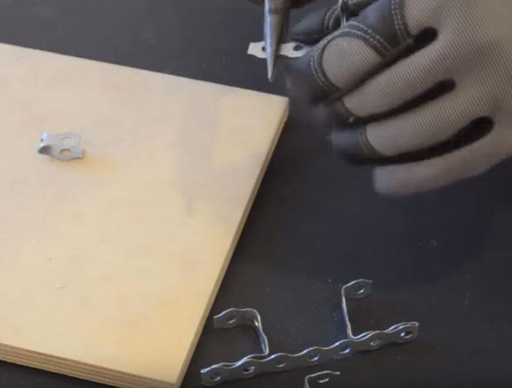 изготовление закладной из перфоленты для светильников в натяжной потолок