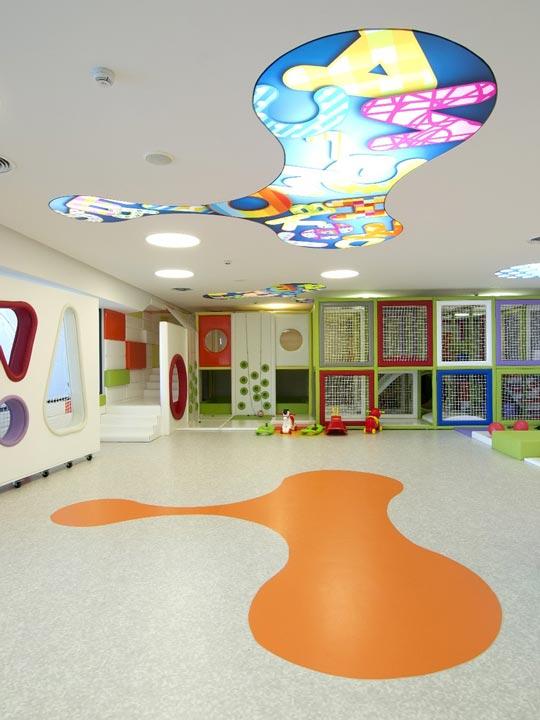 расположение светильников на потолке в детской