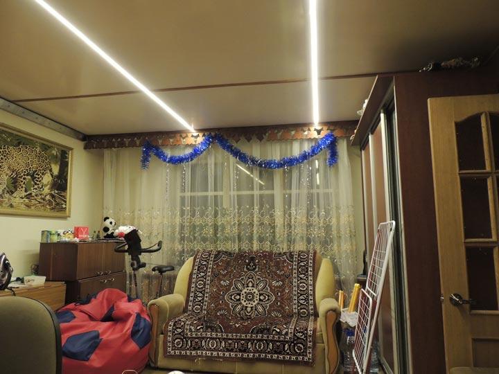 освещение квартиры светодиодной ленты от батареек