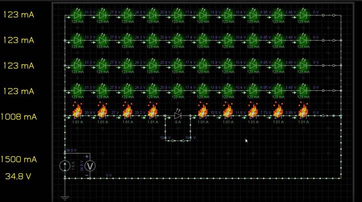 схема светодиодной матрицы с источником тока