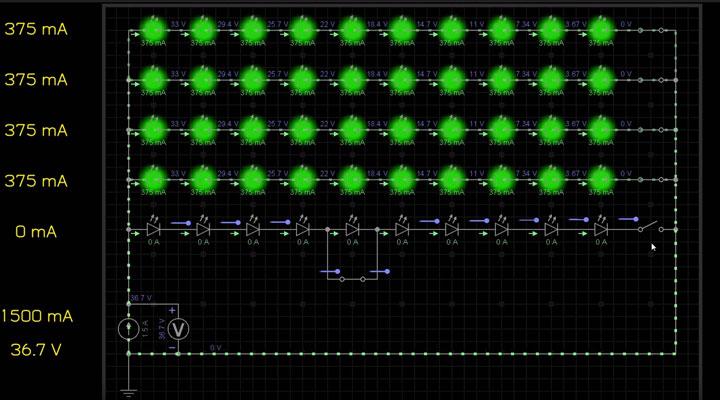 пробой светодиода в матрице прожектора и его последствия